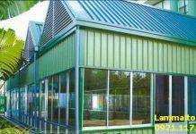 chi phí làm mái tôn che sân thượng 2