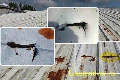 Sửa mái tôn ở những vị trí bị thủng