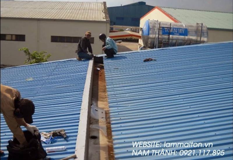 Dịch vụ làm mái tôn tại Bình Tân giá rẻ