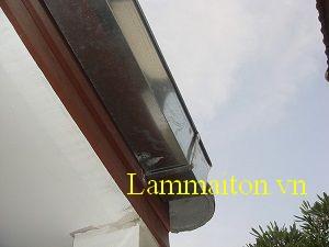 Máng xối nước Inox giúp chống thấm dột công trình