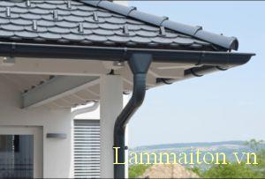 Máng xối nước rất quan trọng với công trình nhà