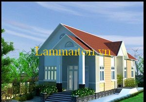 Màu sắc mái nhà tạo nên vẻ đẹp ngôi nhà