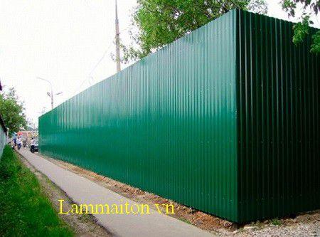 Mẫu hàng rào tôn công trình
