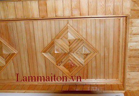 La phông trần nhà bằng gỗ nên thi công ở nơi rộng rãi