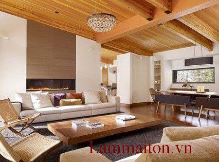 Các mẫu trần nhà bằng gỗ đẹp, đa dạng