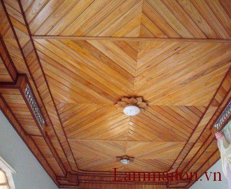 Trần nhà bằng gỗ xoan